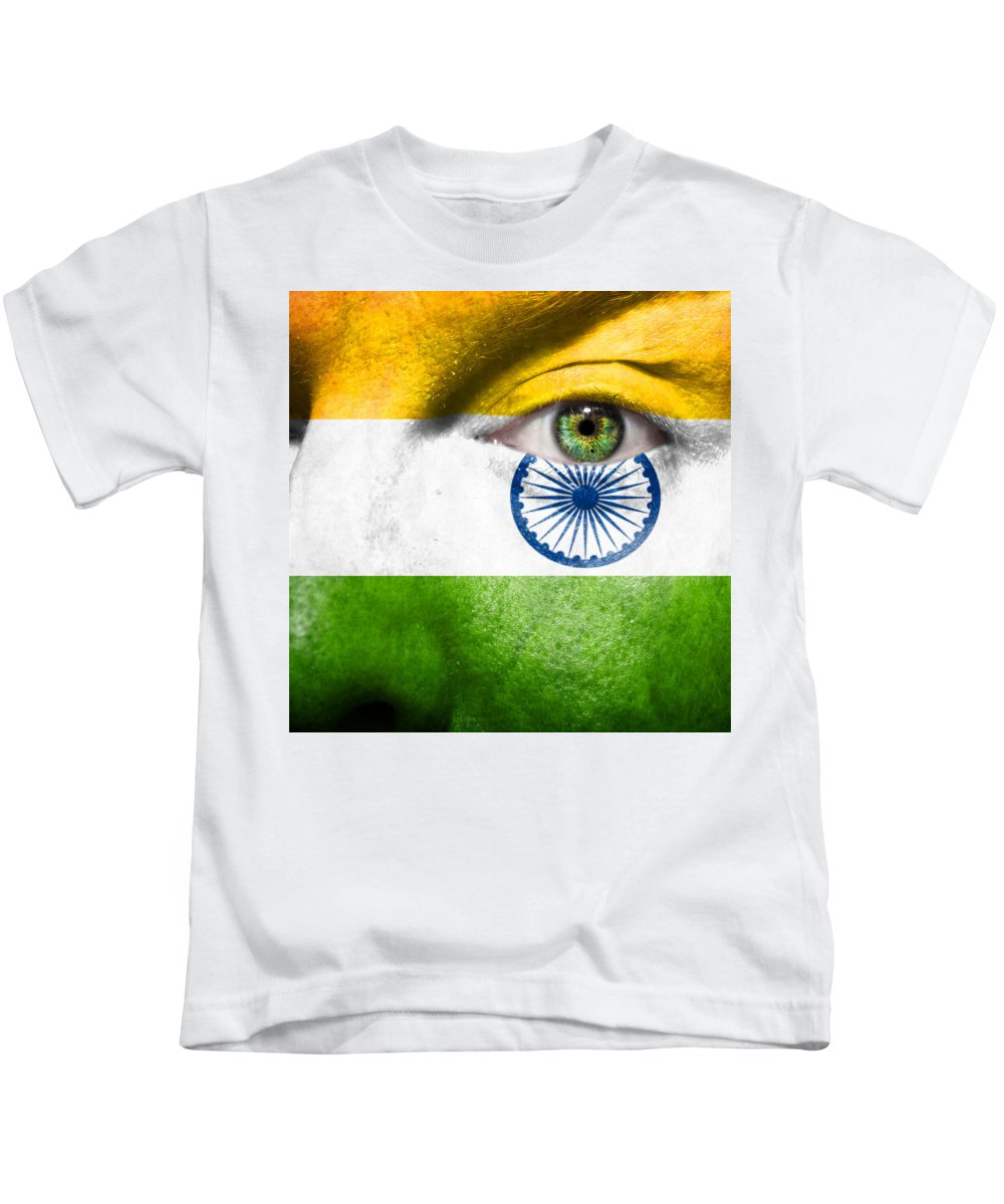 Art Kids T-Shirt featuring the photograph Go India by Semmick Photo