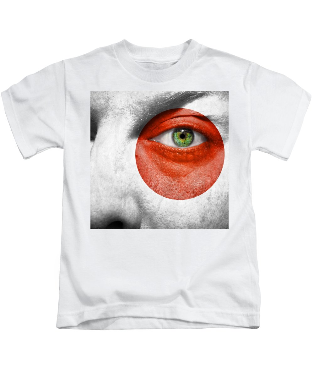Art Kids T-Shirt featuring the photograph Go Japan by Semmick Photo