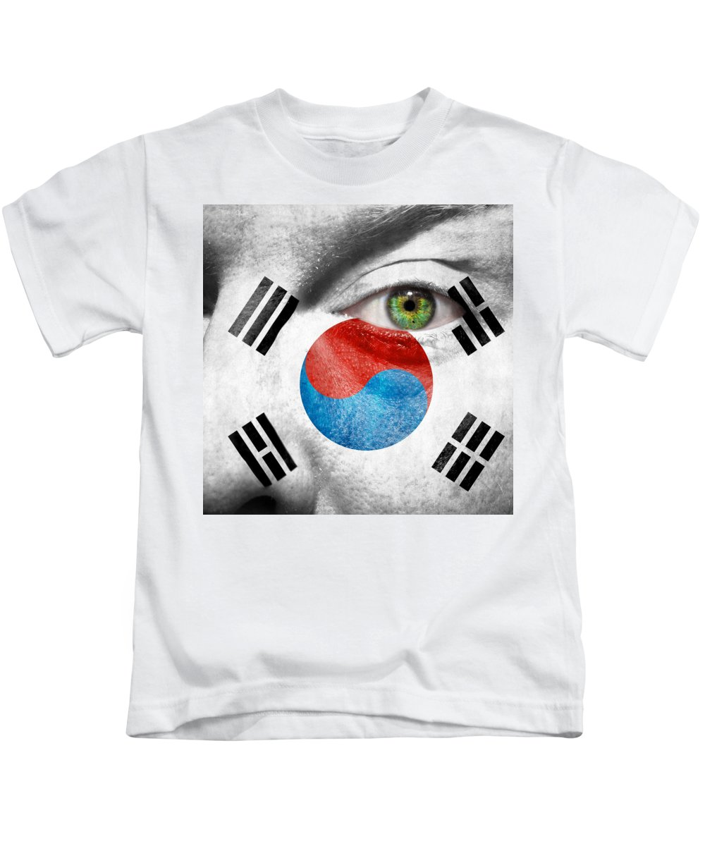 Art Kids T-Shirt featuring the photograph Go South Korea by Semmick Photo