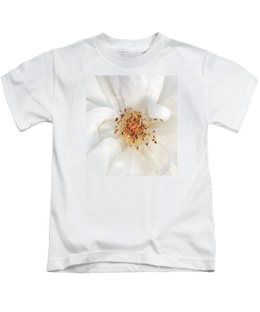 White Kids T-Shirt featuring the photograph Gold Center by Myda Muckala