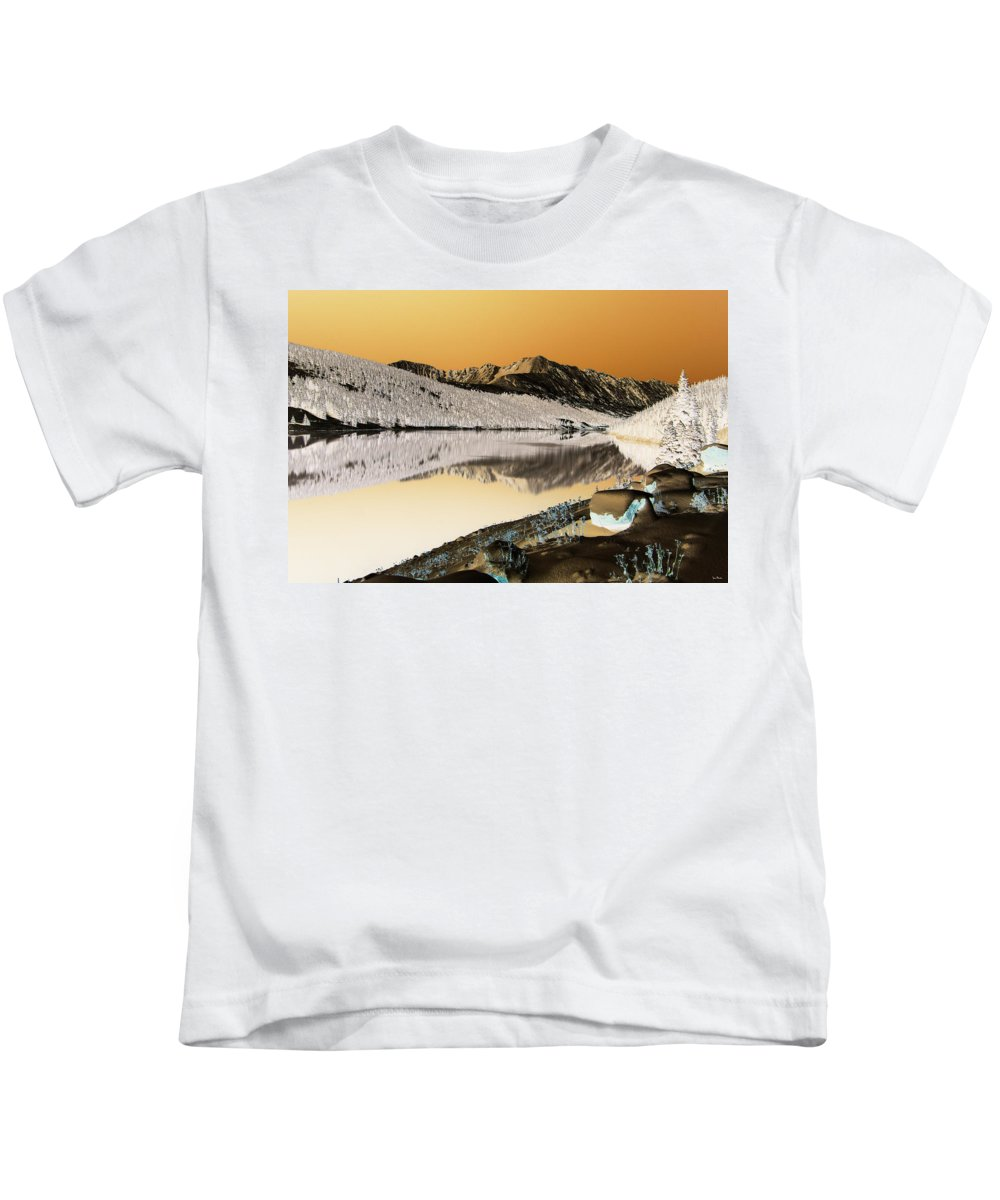 Colorado Kids T-Shirt featuring the photograph Golden Blues by Jeremy Rhoades
