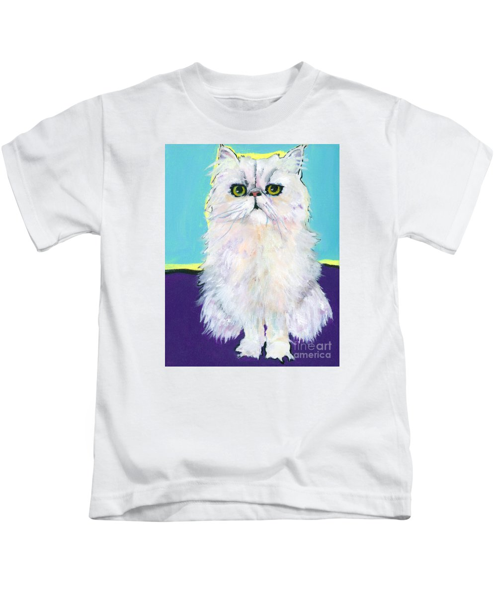 Pat Saunders-whte Kids T-Shirt featuring the painting Cameo by Pat Saunders-White