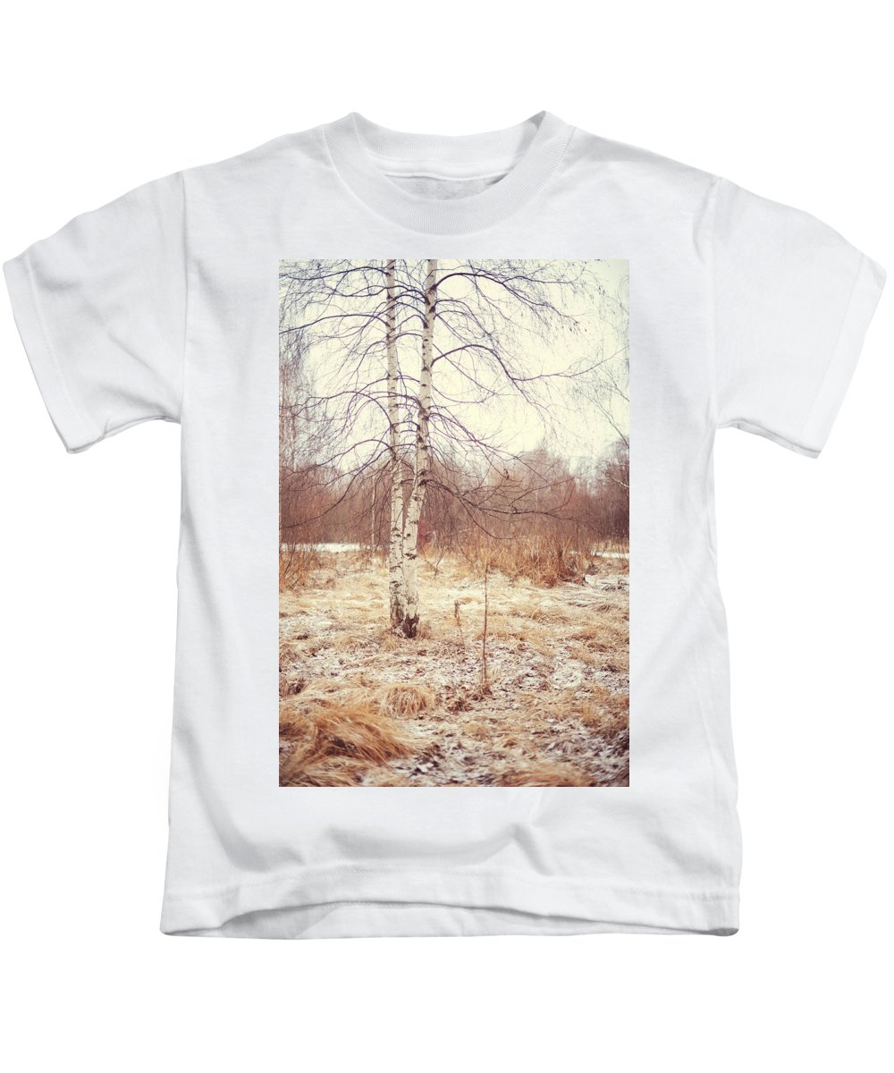 Winter Kids T-Shirt featuring the photograph Grace In The Snow. Winter Poems by Jenny Rainbow