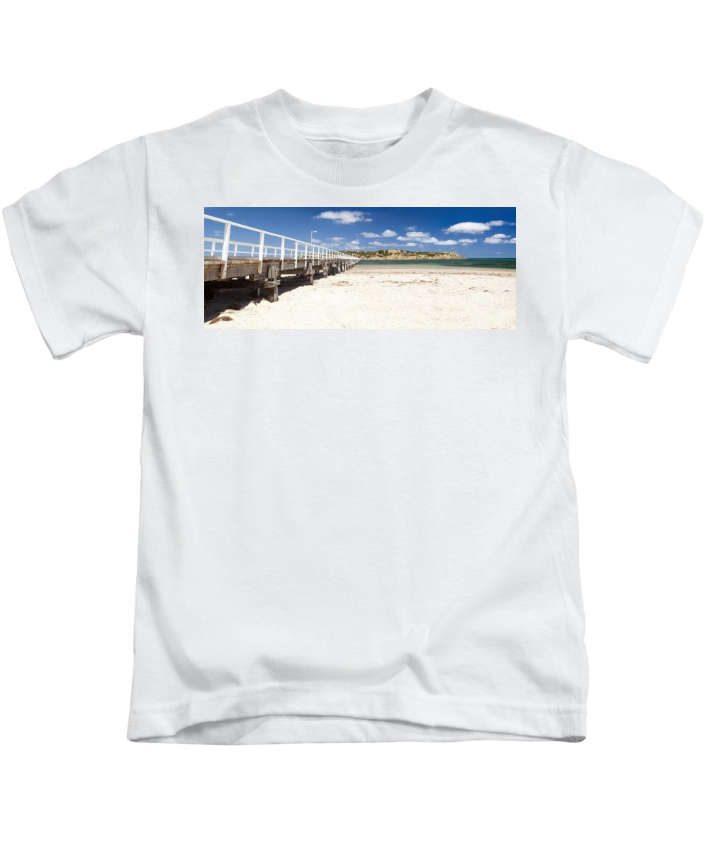 South Australia Kids T-Shirt featuring the photograph Granite Island by Tim Hester