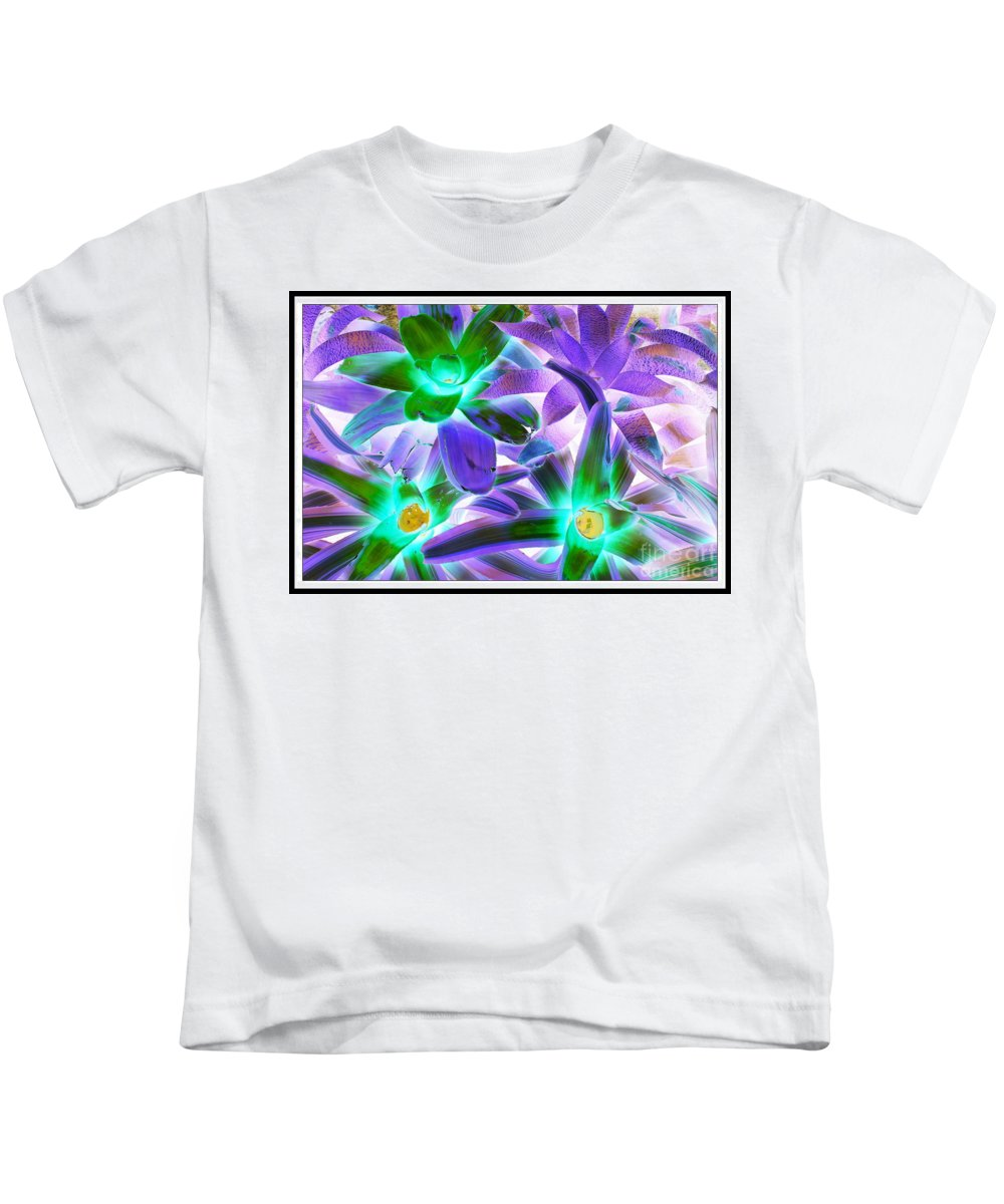 Green And Purple Cactus Plants - Nature - Pop Art - Bold Colors - Kids T-Shirt featuring the photograph Green And Purple Cactus by Dora Sofia Caputo Photographic Design and Fine Art