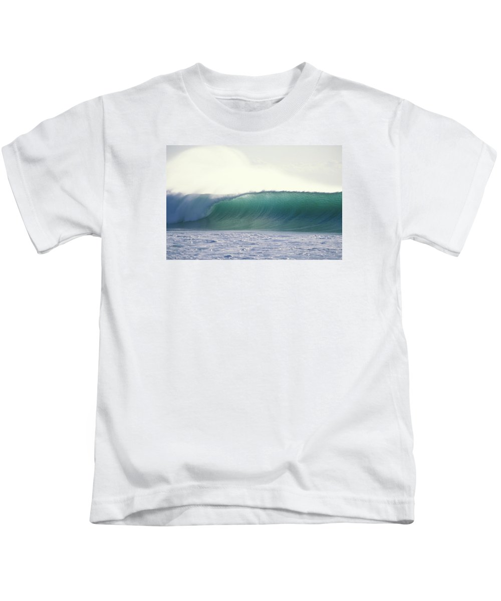 Sea Swell Kids T-Shirt featuring the photograph Green Feather by Sean Davey