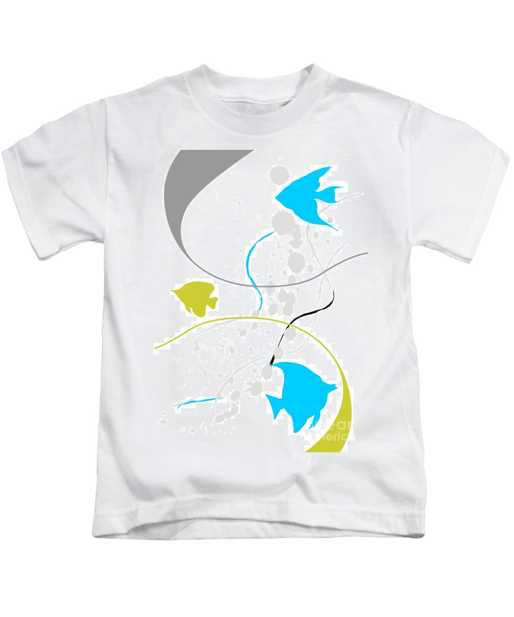 Graphics Kids T-Shirt featuring the digital art Gv079 by Marek Lutek