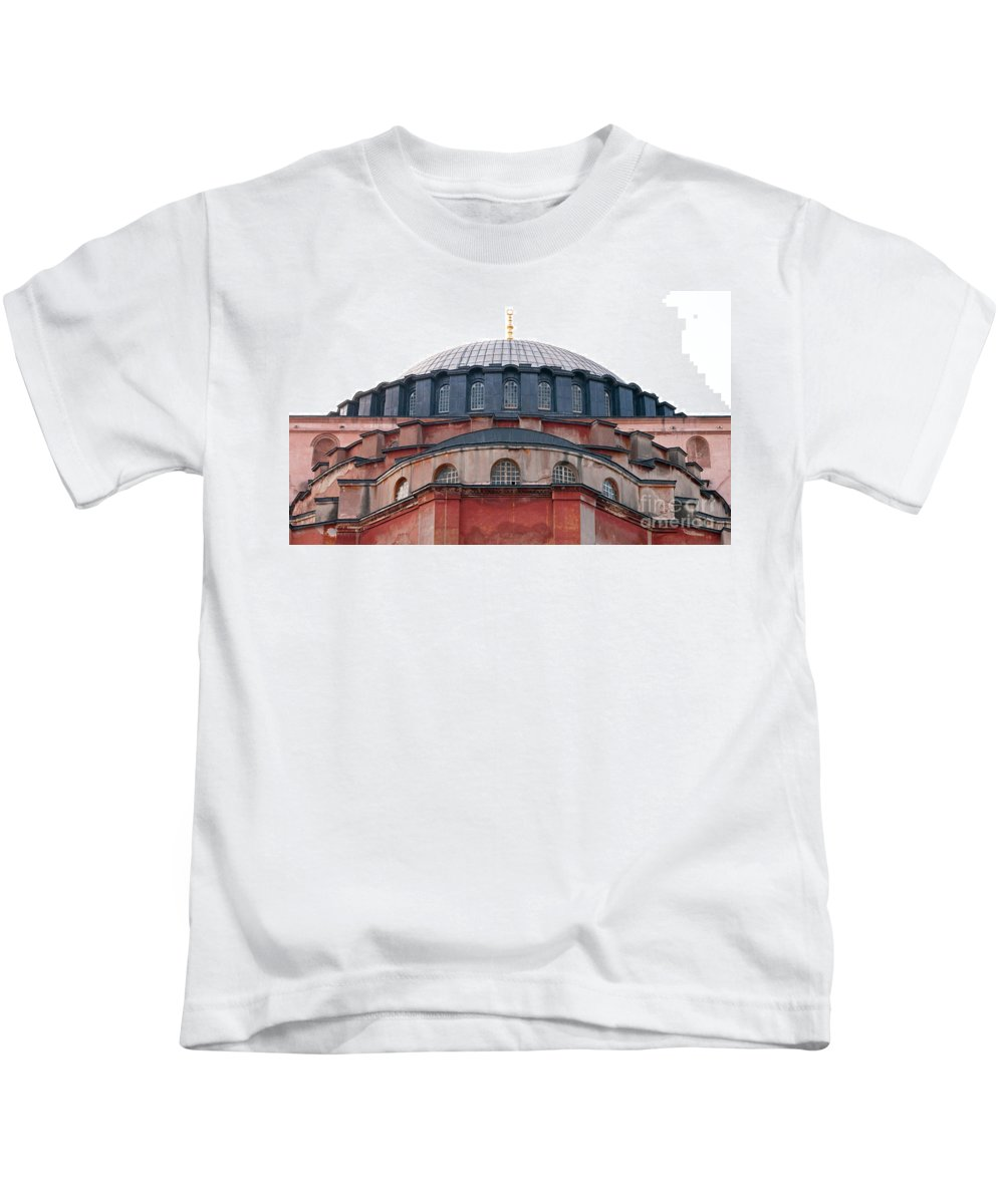 Istanbul Kids T-Shirt featuring the photograph Hagia Sophia Curves 02 by Rick Piper Photography