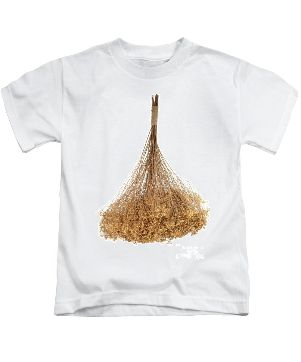 Flower Kids T-Shirt featuring the photograph Hanging Dried Flowers Bunch by Olivier Le Queinec