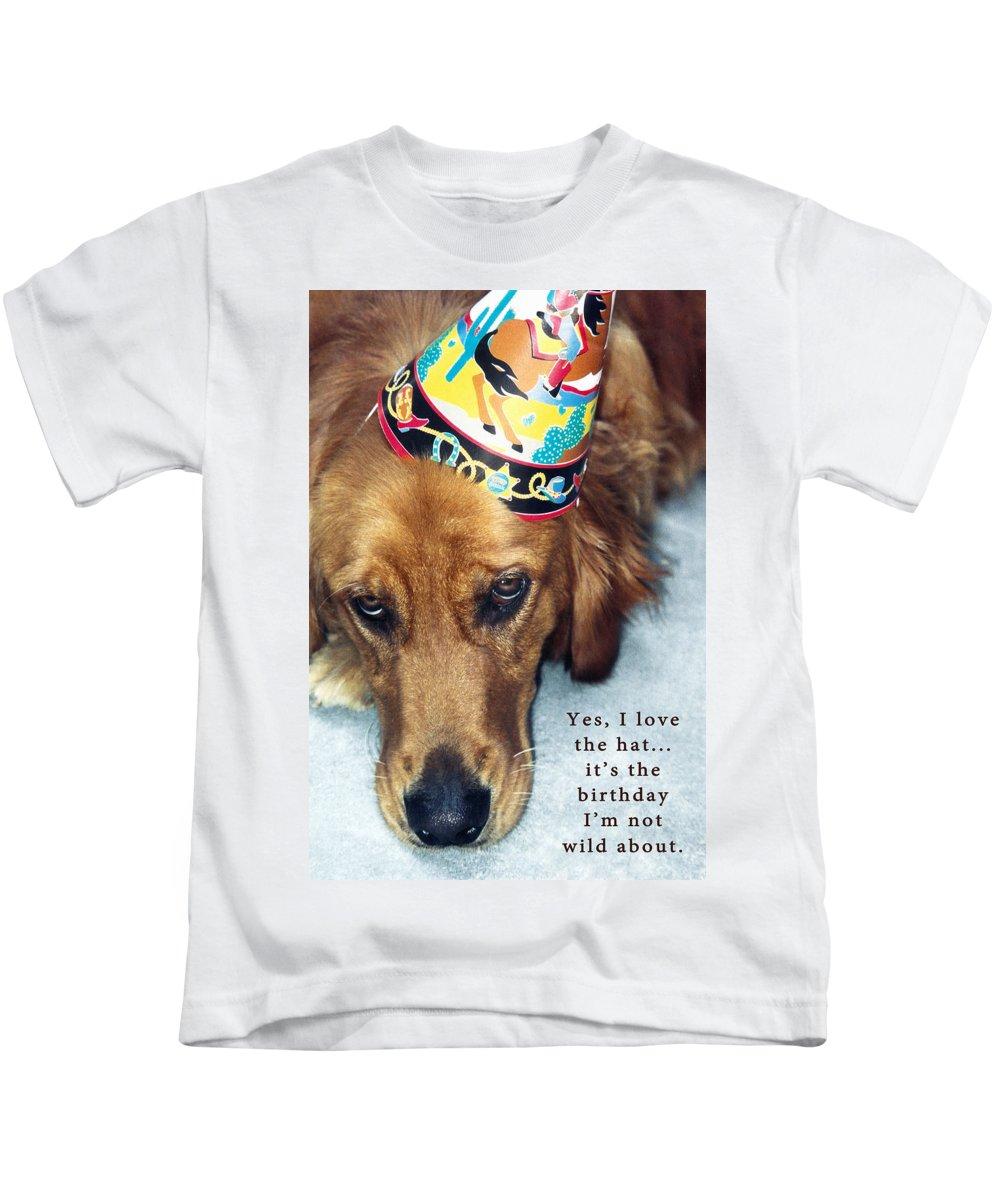 Birthday Card Kids T-Shirt featuring the photograph Happy Birthday Buddy by Lorraine Devon Wilke