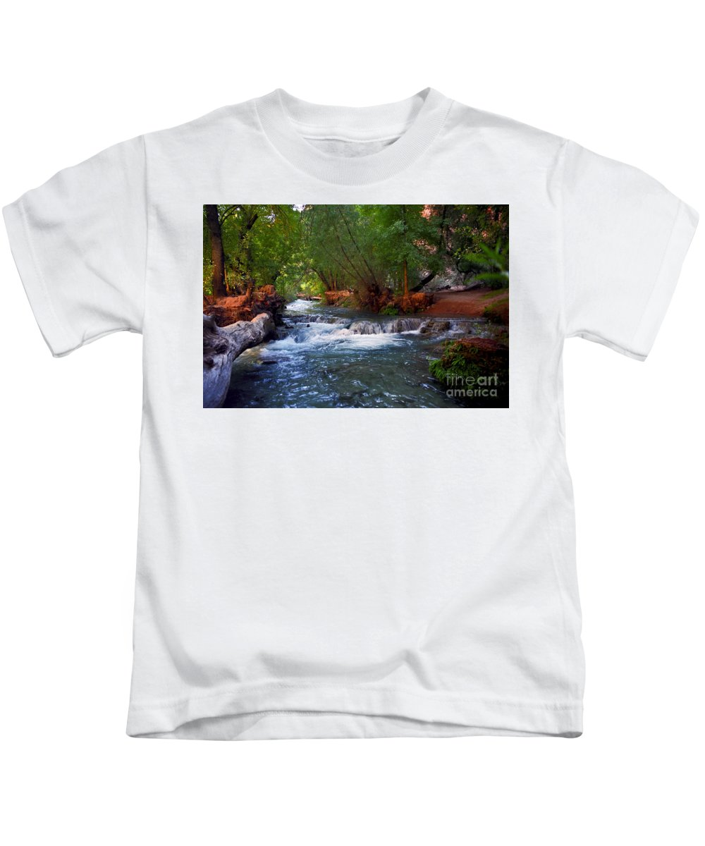 Arizona Kids T-Shirt featuring the photograph Havasu Creek by Kathy McClure