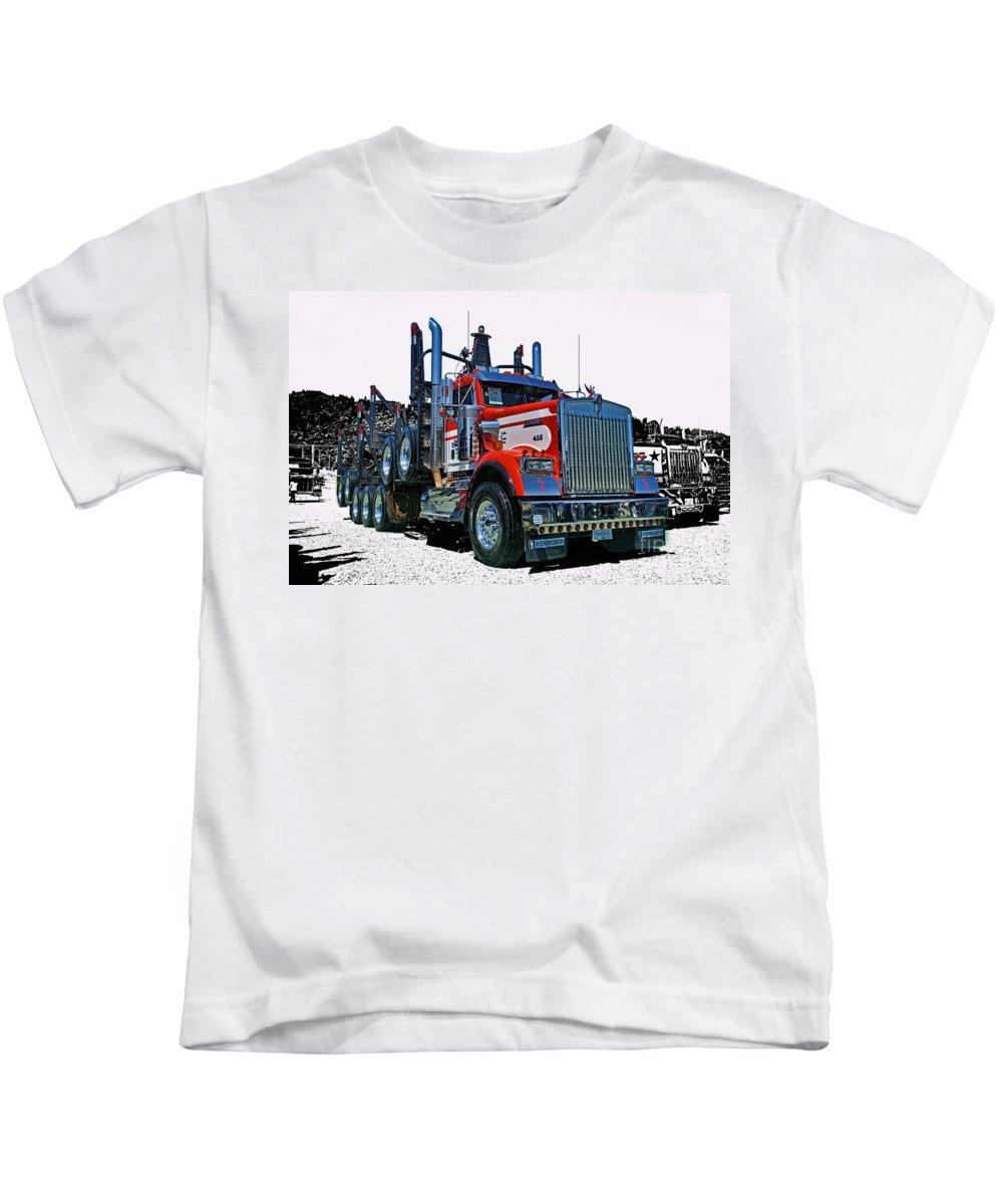 Trucks Kids T-Shirt featuring the photograph Hdrcatr3120-13 by Randy Harris