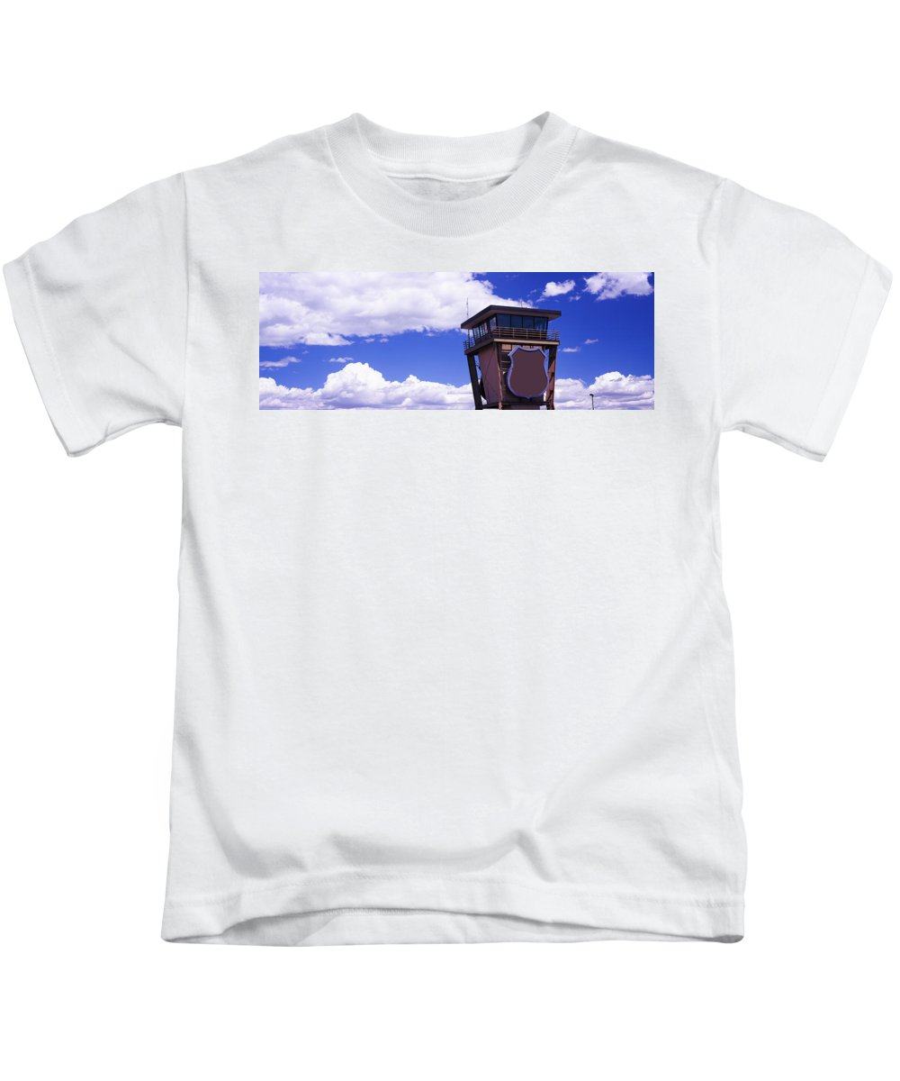 Photography Kids T-Shirt featuring the photograph High Section View Of Railroad Tower by Panoramic Images