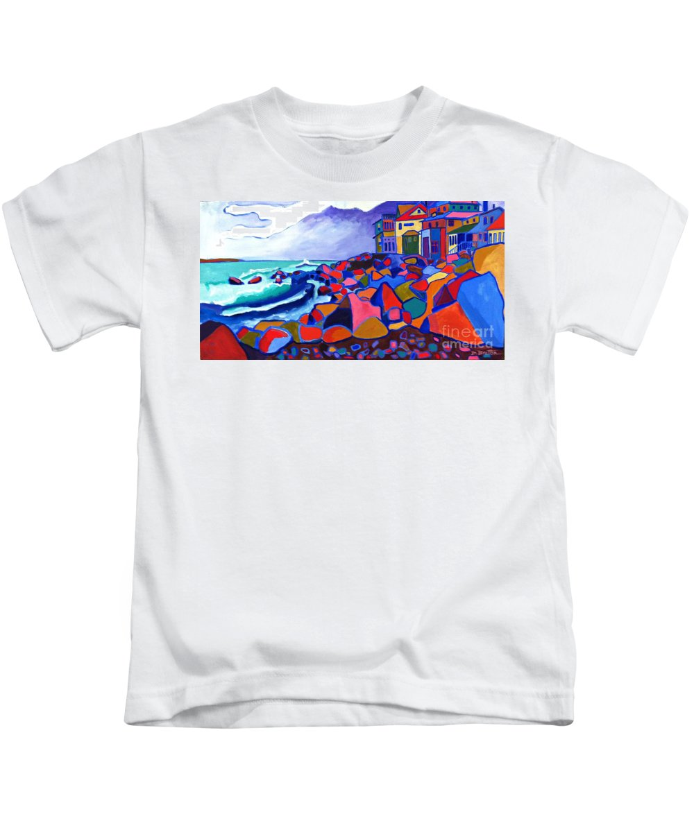 Landscape Kids T-Shirt featuring the painting High Tide Boars Head NH by Debra Bretton Robinson