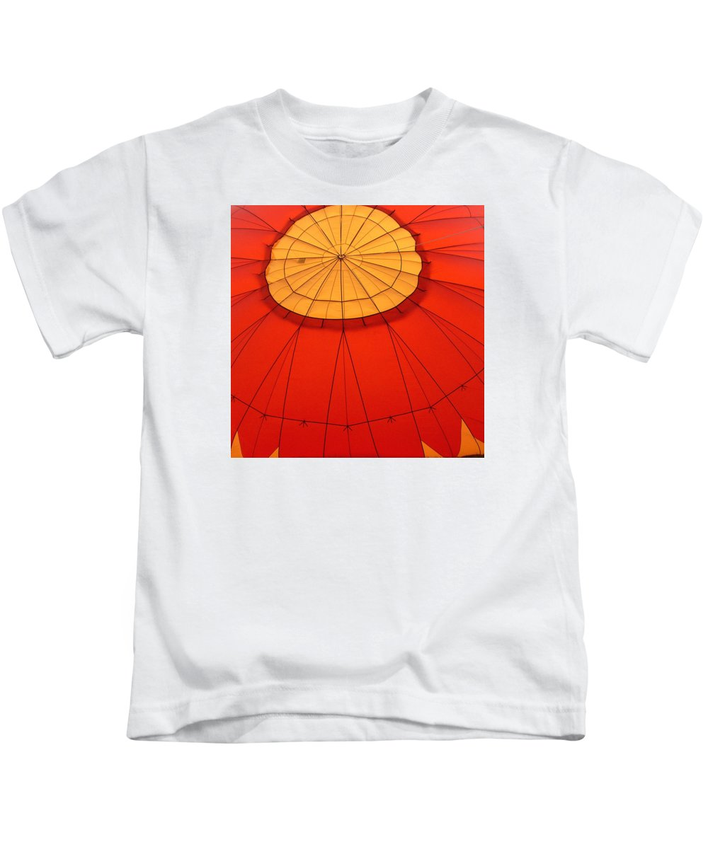 Reno Kids T-Shirt featuring the photograph Hot Air Balloon At Dawn by Art Block Collections