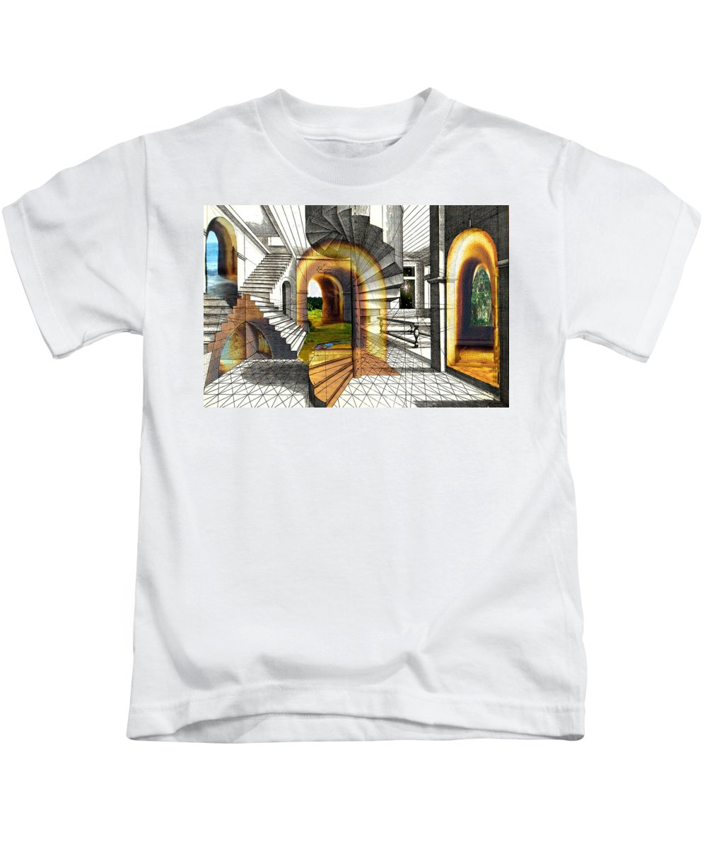 House Kids T-Shirt featuring the digital art House Of Dreams by Lisa Yount