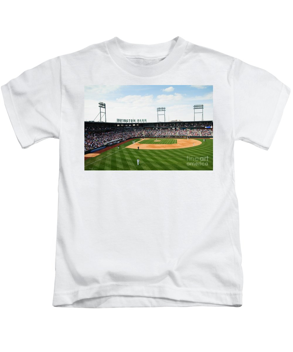 Columbus Clippers Kids T-Shirt featuring the photograph D24w-243 Huntington Park Photo by Ohio Stock Photography