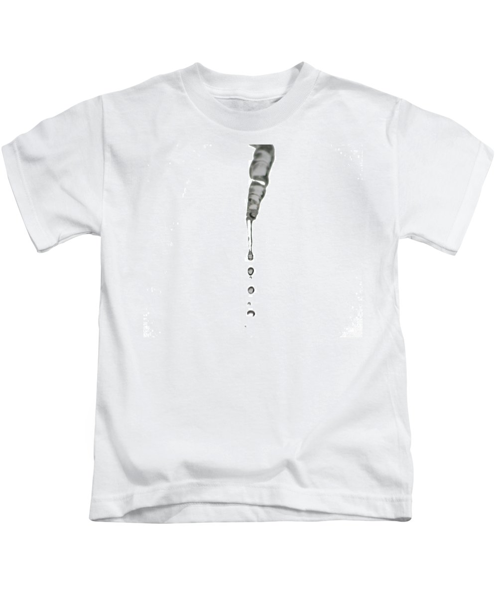 Kids T-Shirt featuring the photograph Ice Water by Barbara S Nickerson