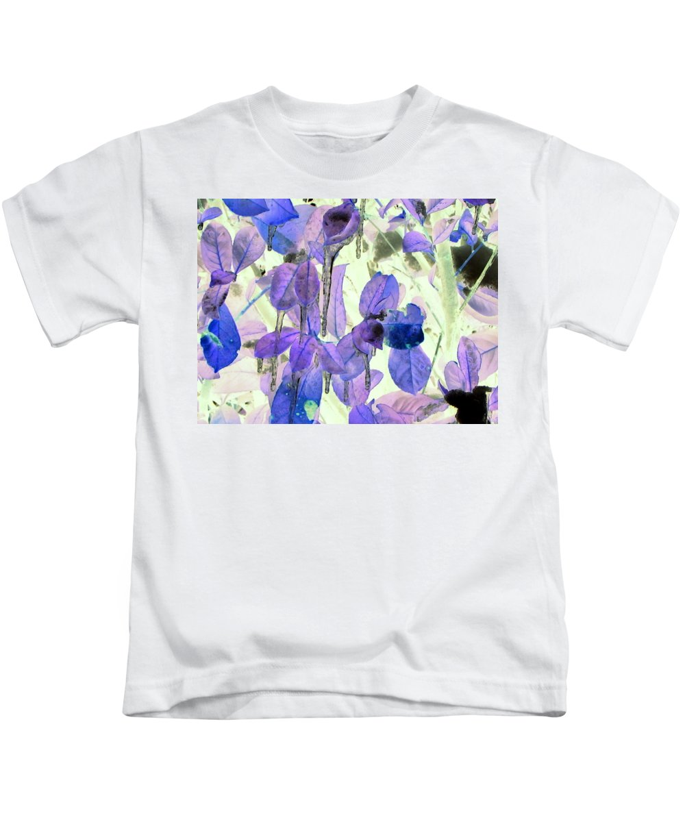 Blue Kids T-Shirt featuring the digital art Icicles by Tikvah's Hope