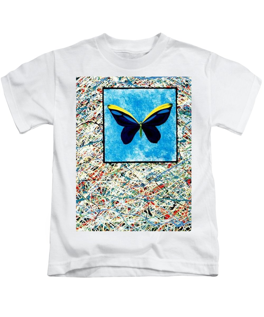 Abstract Kids T-Shirt featuring the painting Imperfect II by Micah Guenther