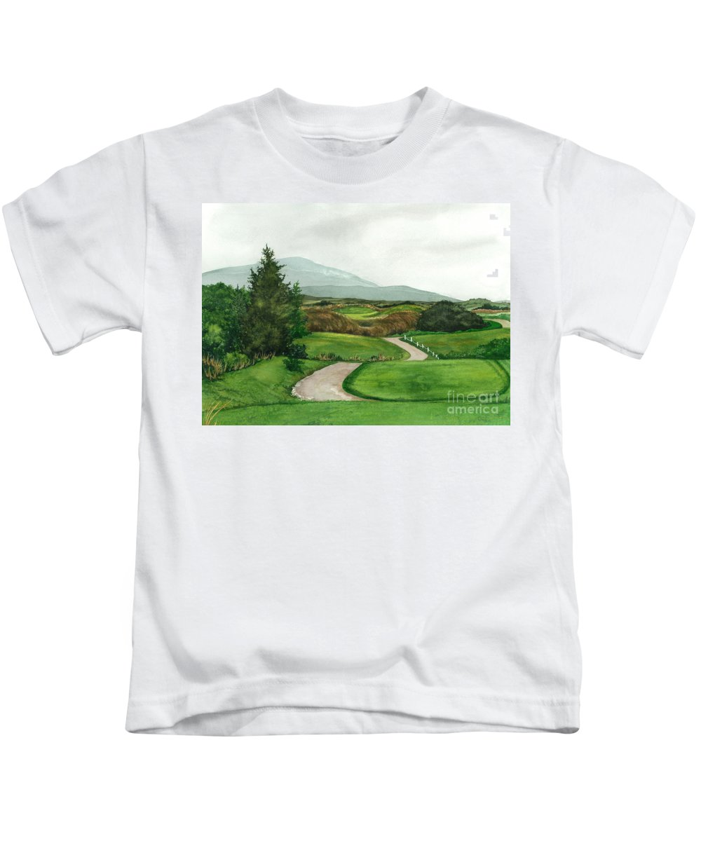 Irish Greens Kids T-Shirt featuring the painting Irish Greens by Barbara Jewell
