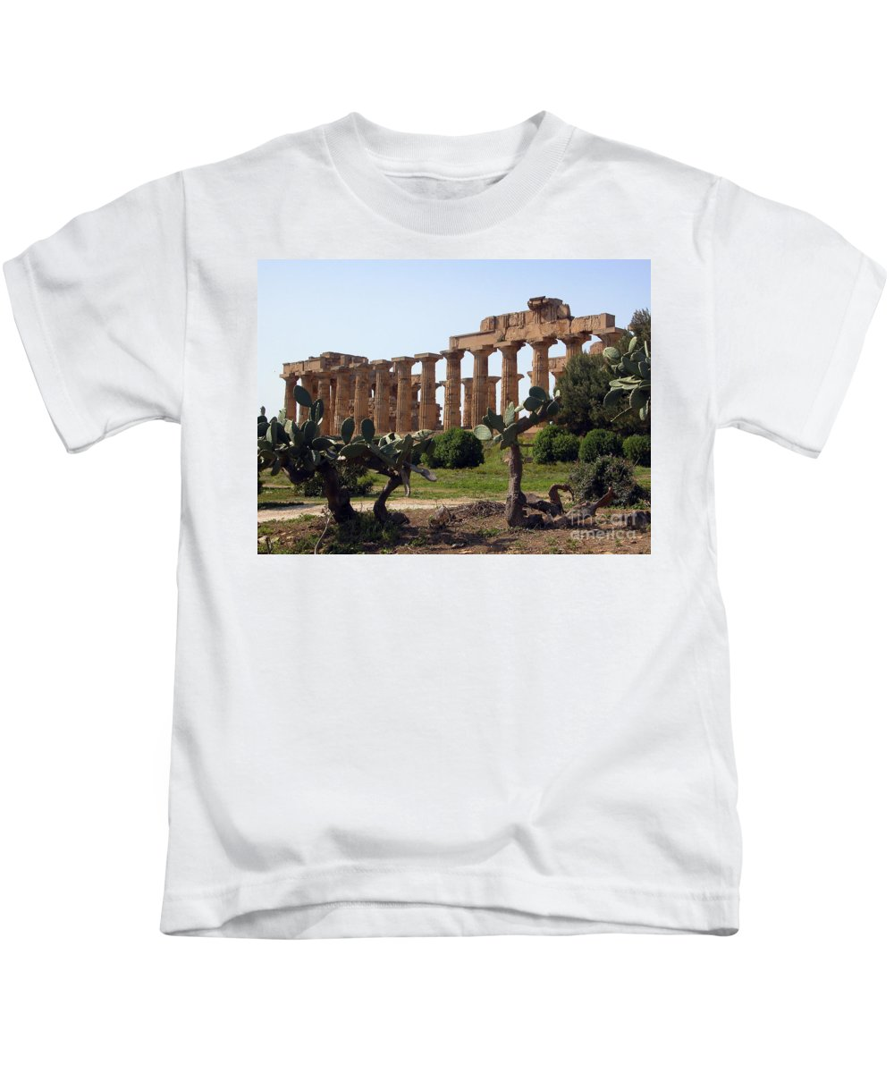 Italy Kids T-Shirt featuring the photograph Italian Ruins by Timothy Hacker