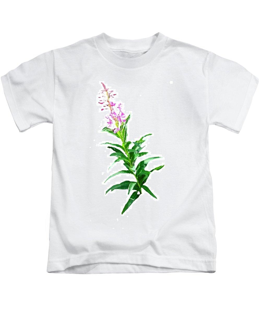 Yukon Kids T-Shirt featuring the digital art J7143 by Jill Walton