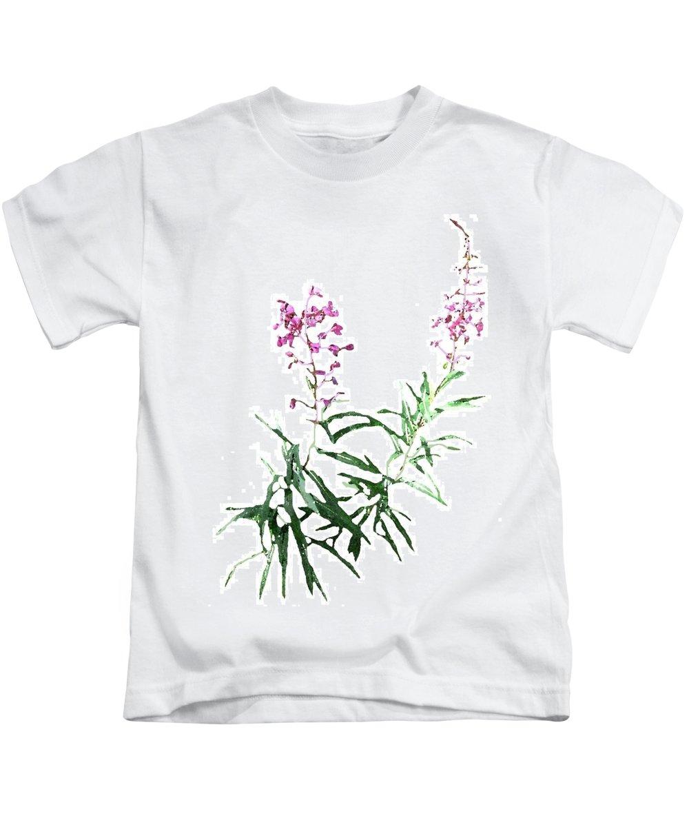 Yukon Kids T-Shirt featuring the digital art J7145 by Jill Walton