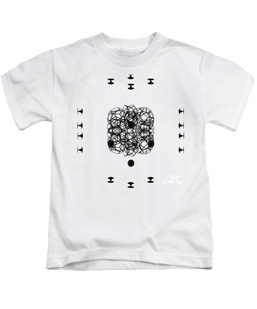 Irst Star Art Kids T-Shirt featuring the digital art Jammer Asymmetrical Symmetry by First Star Art