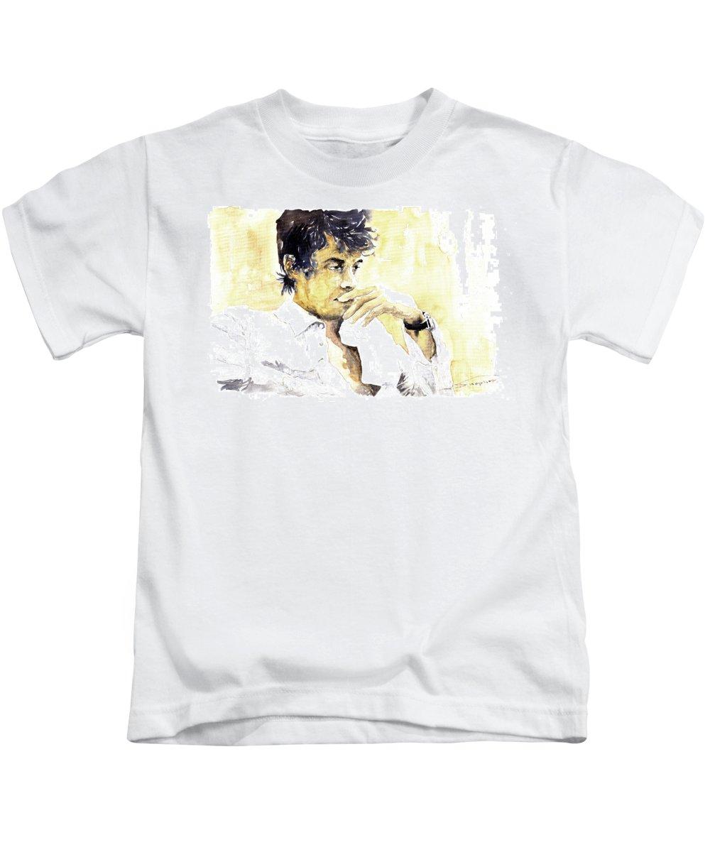 Jazz Kids T-Shirt featuring the painting Jazz Rock John Mayer 04 by Yuriy Shevchuk