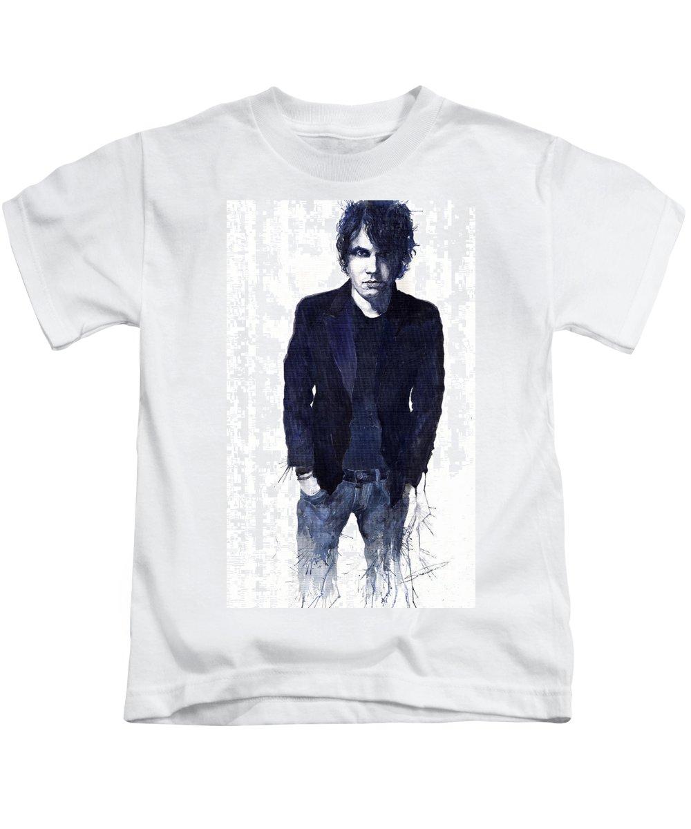Jazz Kids T-Shirt featuring the painting Jazz Rock John Mayer 07 by Yuriy Shevchuk