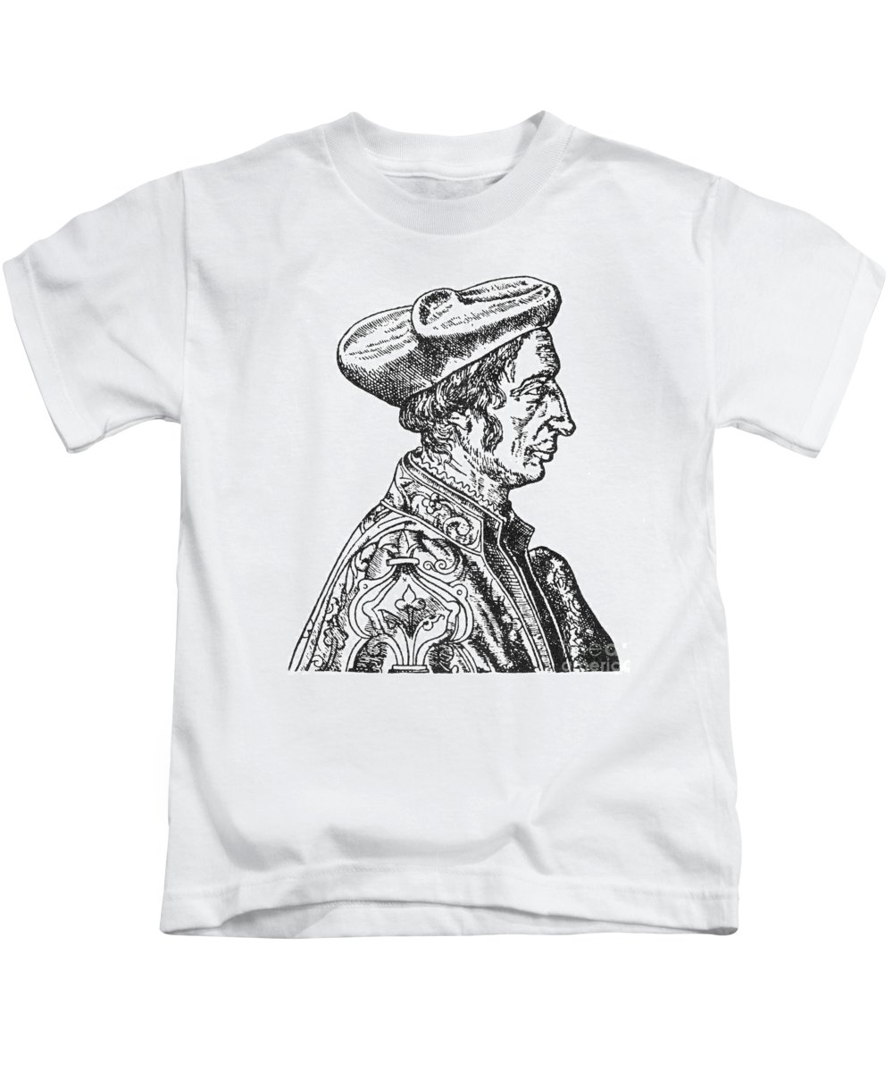 1554 Kids T-Shirt featuring the photograph Jean Fernel (1497-1558) by Granger