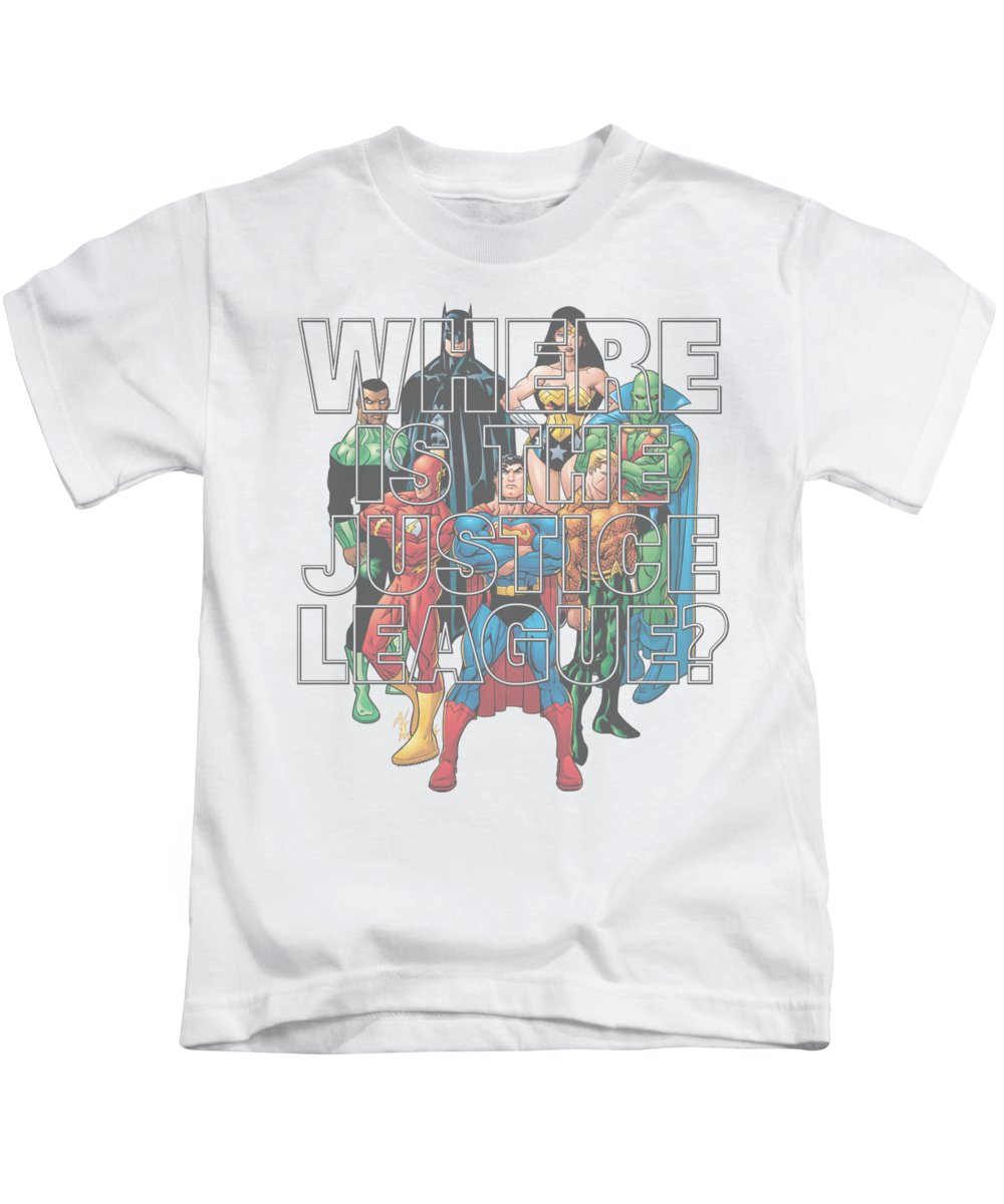 Kids T-Shirt featuring the digital art Jla - Classified #1 Cover by Brand A
