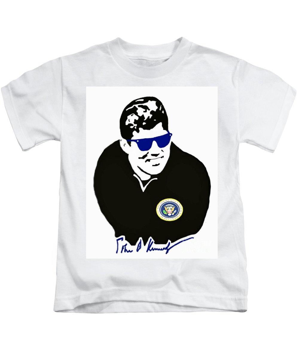 Jackie Kids T-Shirt featuring the photograph John F Kennedy Signature Wayfarer by Jost Houk
