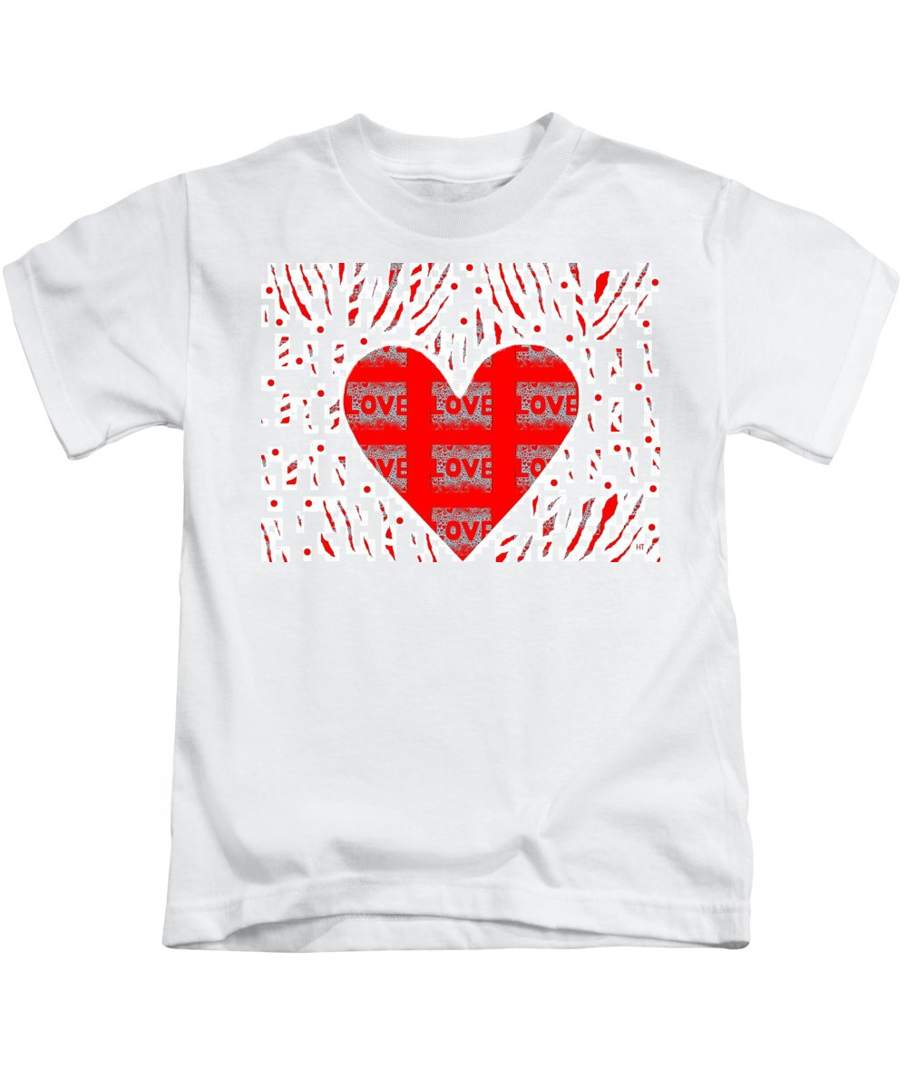 Love Kids T-Shirt featuring the digital art Just Love by Helena Tiainen