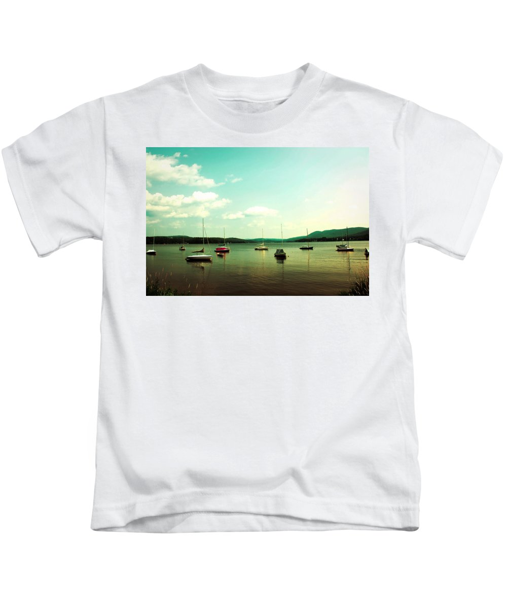Boats Kids T-Shirt featuring the photograph Just Sail Boats by Sherman Perry