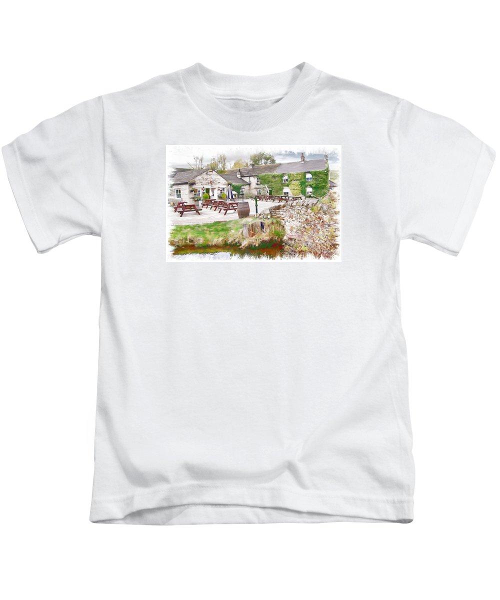 Old Kids T-Shirt featuring the digital art Knitsley Mill 5 by John Lynch