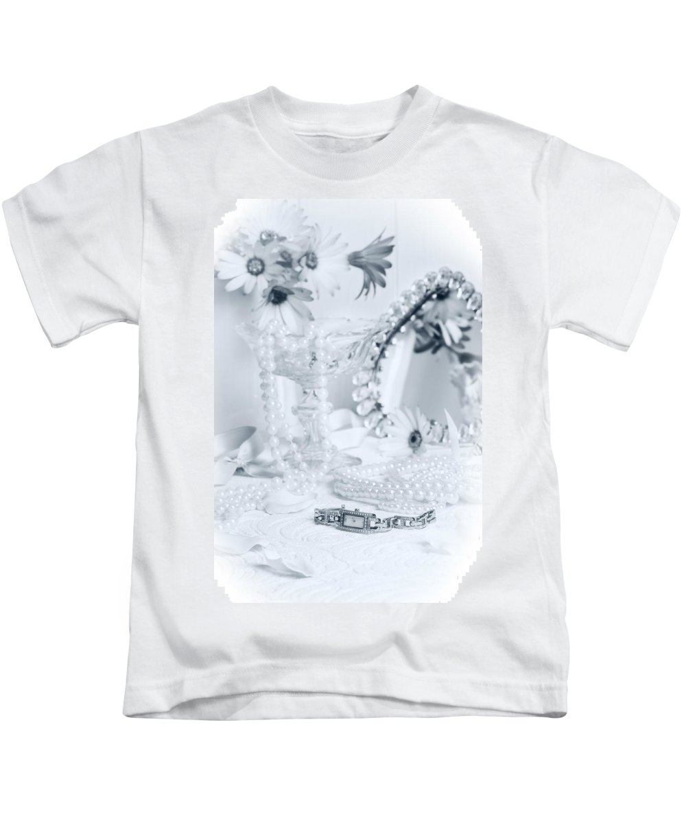 Black Kids T-Shirt featuring the photograph Ladies Dressing Table by Amanda Elwell