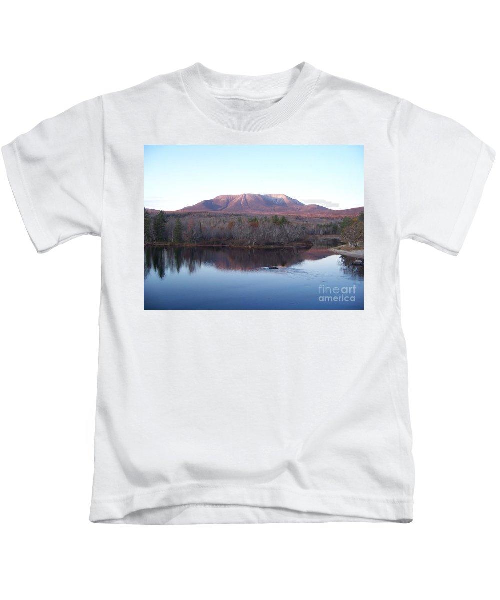 Mount Katahdin Kids T-Shirt featuring the photograph Late Fall At Abol Bridge by Joseph Marquis