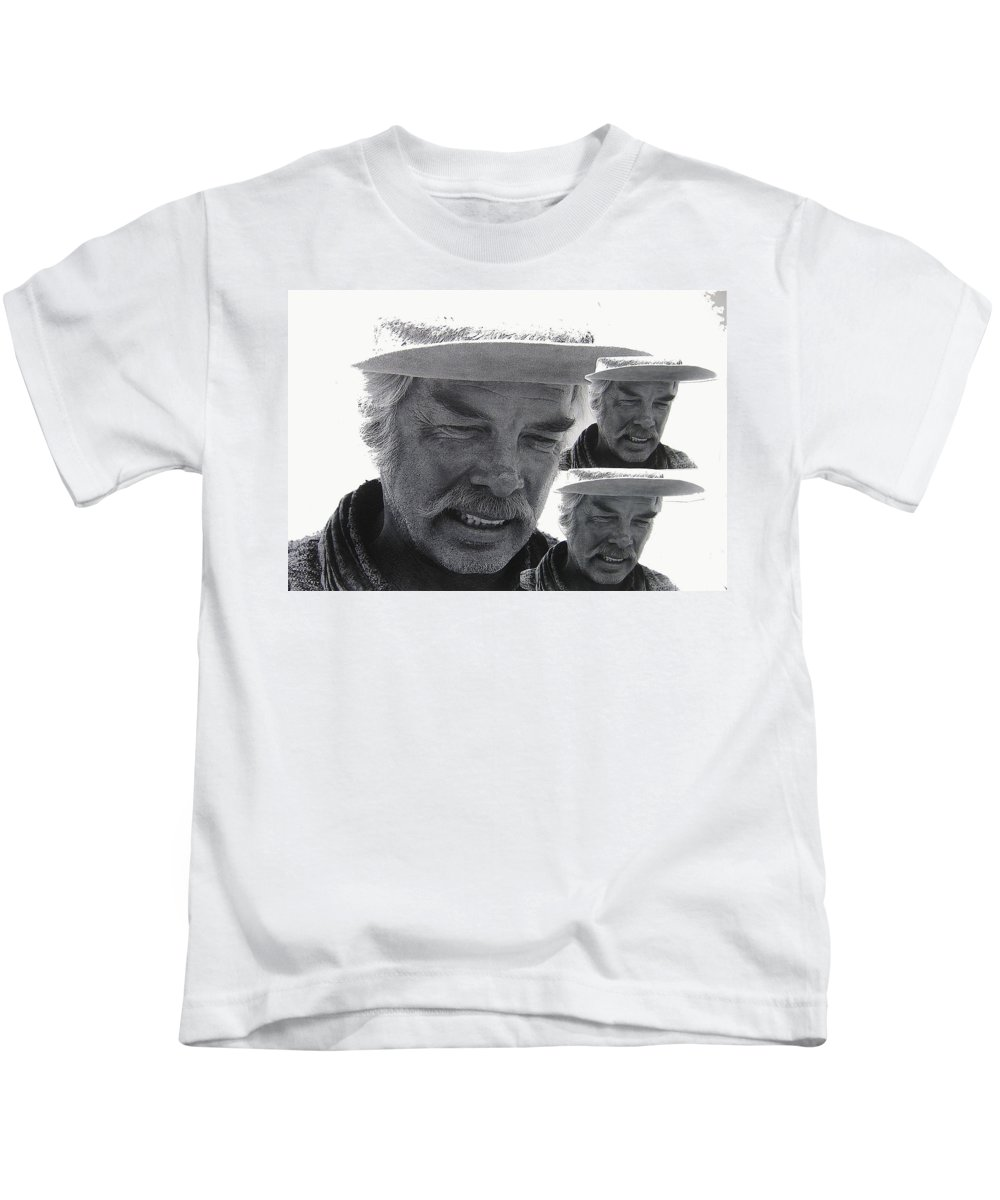 Lee Marvin Monte Walsh #1 Old Tucson Arizona 1969-2012  Kids T-Shirt featuring the photograph Lee Marvin Monte Walsh #1 Old Tucson Arizona 1969-2012  by David Lee Guss