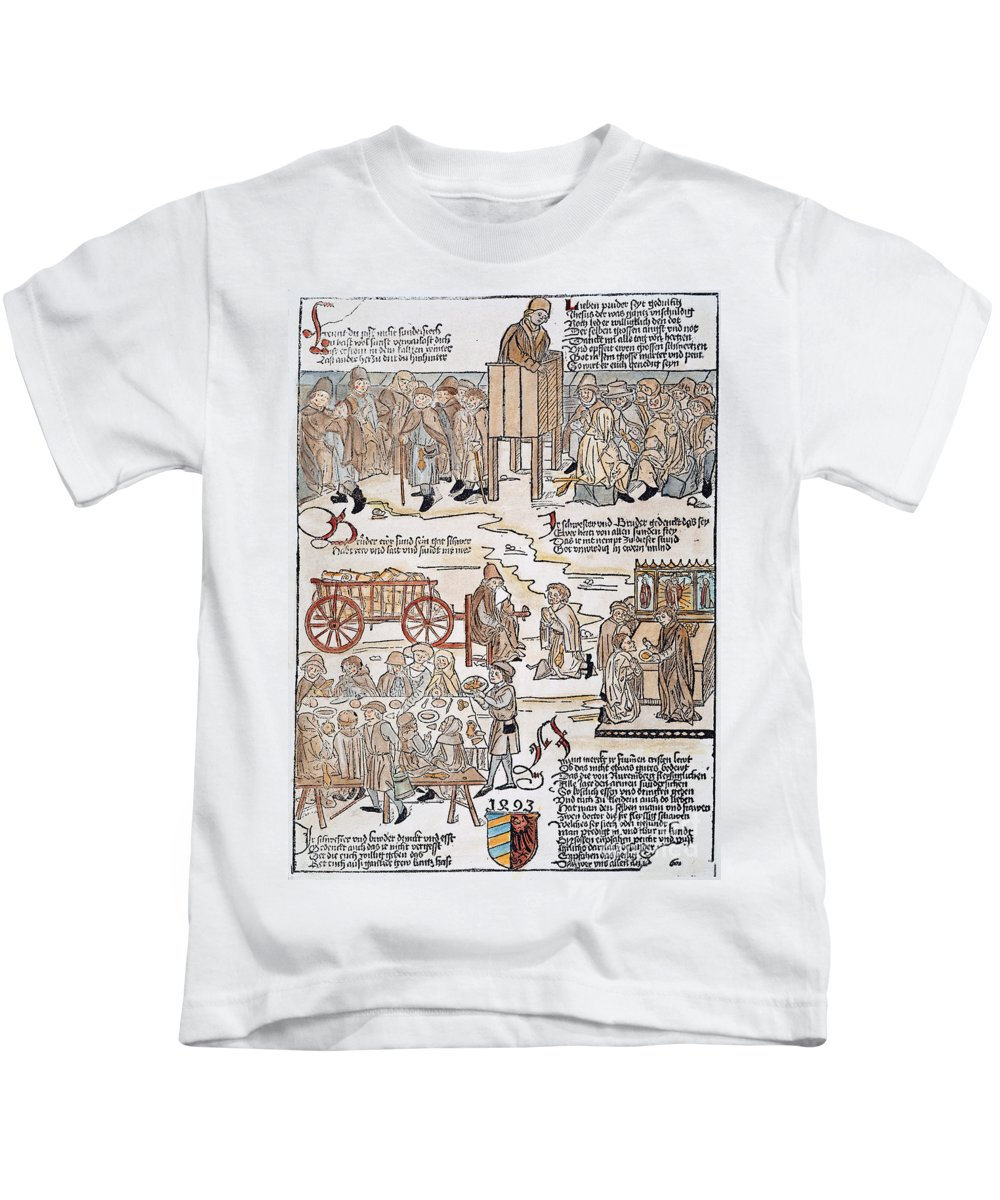 1493 Kids T-Shirt featuring the photograph Lepers, 1493 by Granger