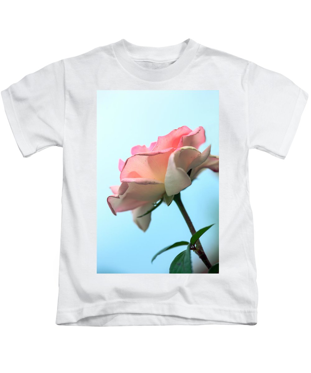 Bumble Bee Kids T-Shirt featuring the photograph Life Is All Roses And Blue Sky by Sennie Pierson