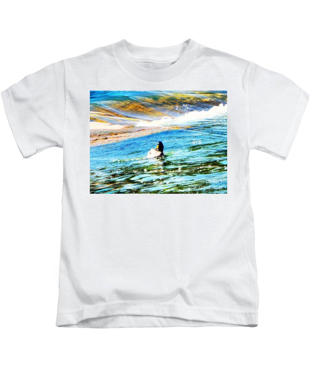 Mallard Kids T-Shirt featuring the photograph Life Is Just Ducky by Bobbee Rickard