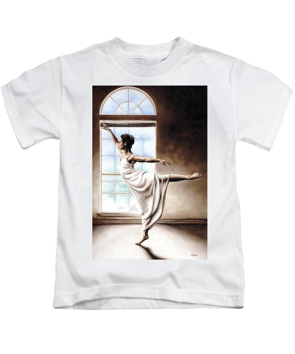 Dance Kids T-Shirt featuring the painting Light Elegance by Richard Young