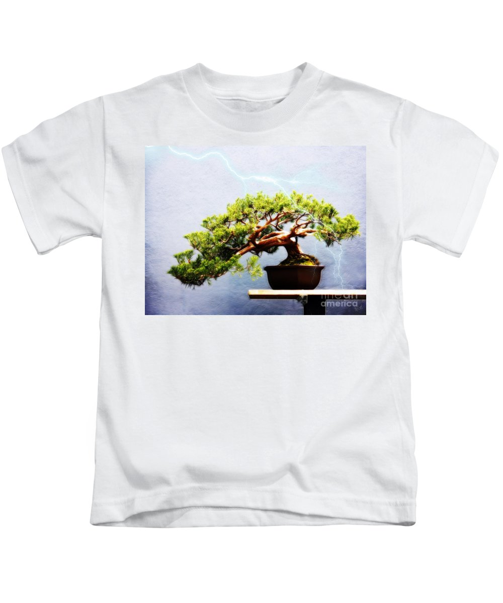 Bonsai Kids T-Shirt featuring the photograph Lightning Strikes Again by Nishanth Gopinathan