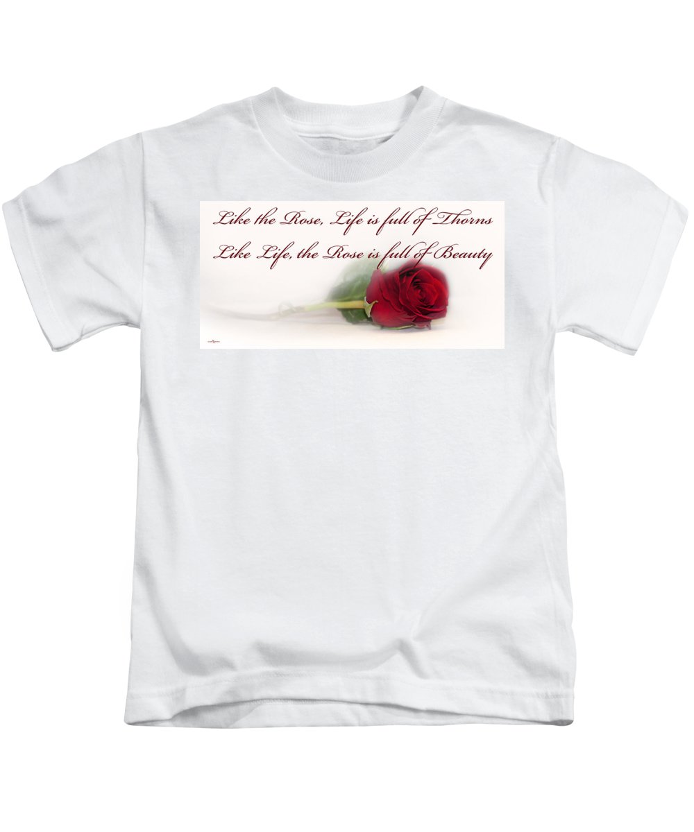 Like The Rose Kids T-Shirt featuring the photograph Like The Rose by Mechala Matthews