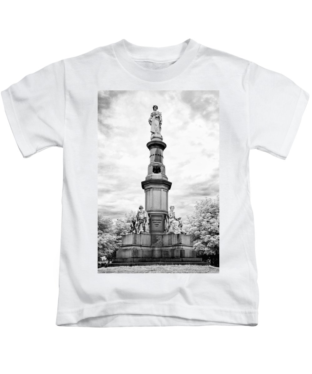 Infrared Kids T-Shirt featuring the photograph Lincolns Gettysburg Address Site by Paul W Faust - Impressions of Light