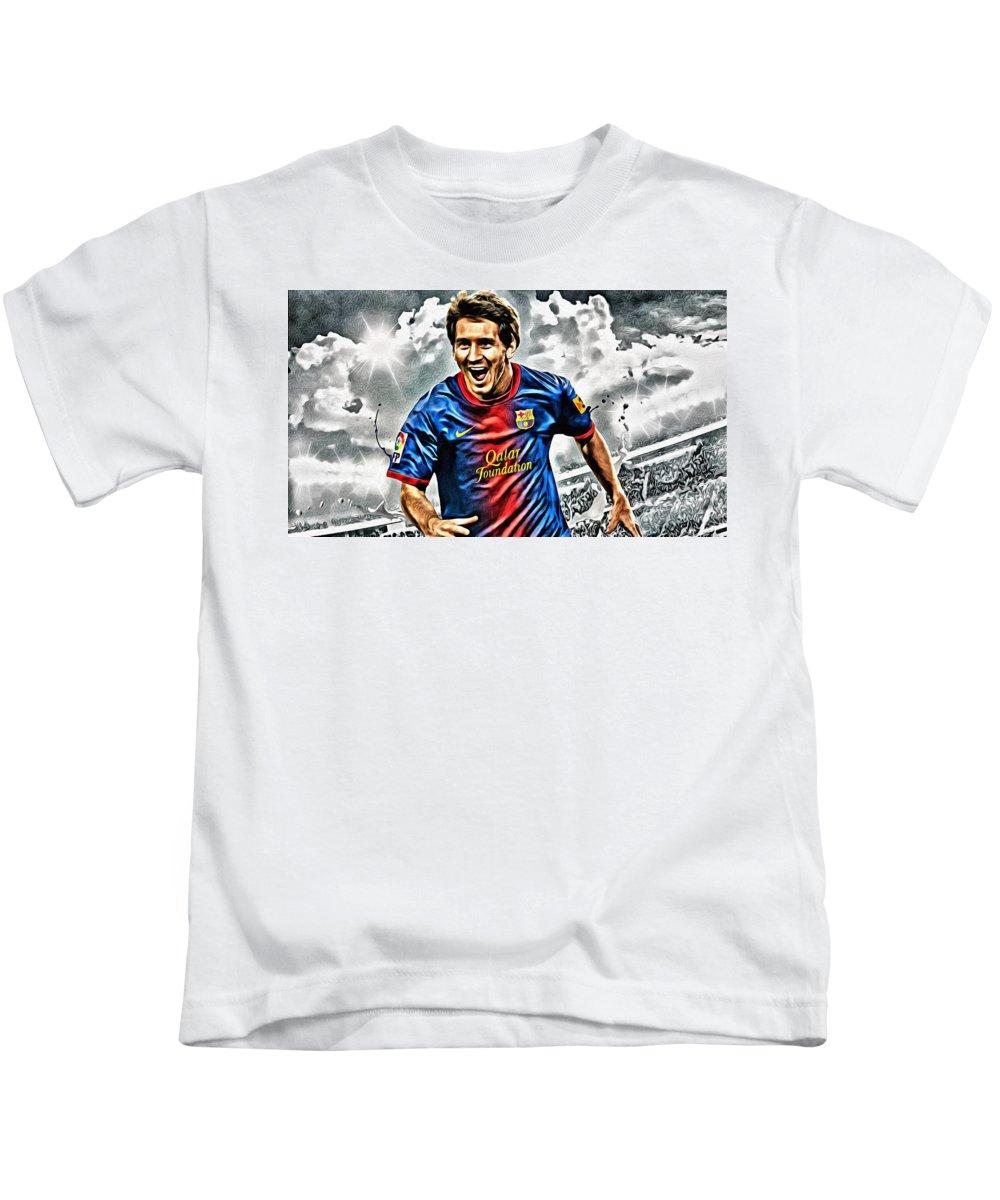 673d42b6f Lionel Messi Celebration Poster Kids T-Shirt for Sale by Florian Rodarte