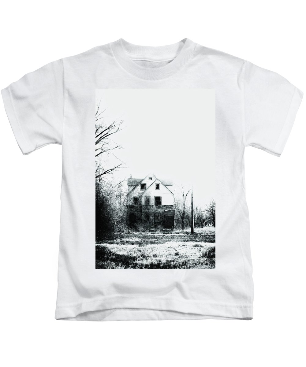 House Kids T-Shirt featuring the photograph Lost In Despair by Margie Hurwich