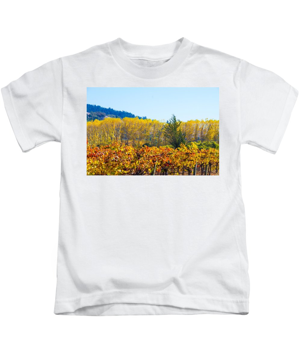 Napa Kids T-Shirt featuring the photograph Lovely Fall Colors by Brian Williamson